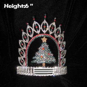 Crystal Christmas Tree Shaped Pageant Crowns