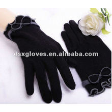 fashion black cashmere gloves for women