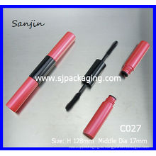luxury double ended mascara tube