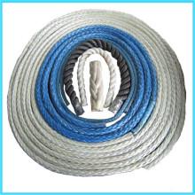 Corda de amarração para nave usando a força elevada e peso leve fio