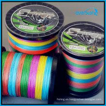 Línea trenzada de alta calidad 8 filamentos 500m / rollo