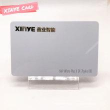 Cartão inteligente de PVC sem contato personalizado RFID cartão branco