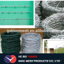 Alambre de púas del peso de la alta calidad anping direct supplier