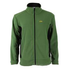 100% poliéster verde casaco de lã