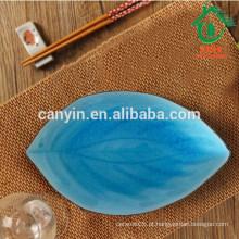 Atacado de cerâmica azul e preto marroquino placa