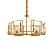 Luxury modern ceiling lamp iron crystal chandeliers pendant lights for indoor