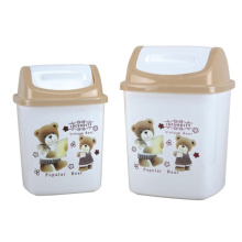Plastic Cartoon Printed Flip-on Waste Bin (A11-2009)