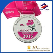 2015 Металл Творческий 5 км Бегущая Медаль Оптовая Спортивная Медаль Фабрика