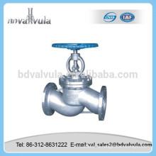 Manual de alta calidad de acero inoxidable válvula de globo con conexión de brida