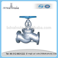 Chinese standard flange end stainless steel globe valve
