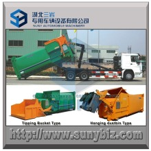 Gompactor Garbage Truck 10 Cbm Mobile Refuse Compactor Station