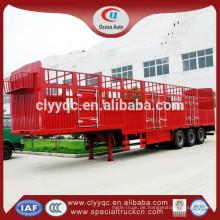 Zu verkaufen china van semi-trailer stahl ladung trailer