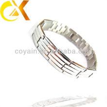 2013 jóias de aço inoxidável homem estrela-do-mar corrente elástica pulseira polida