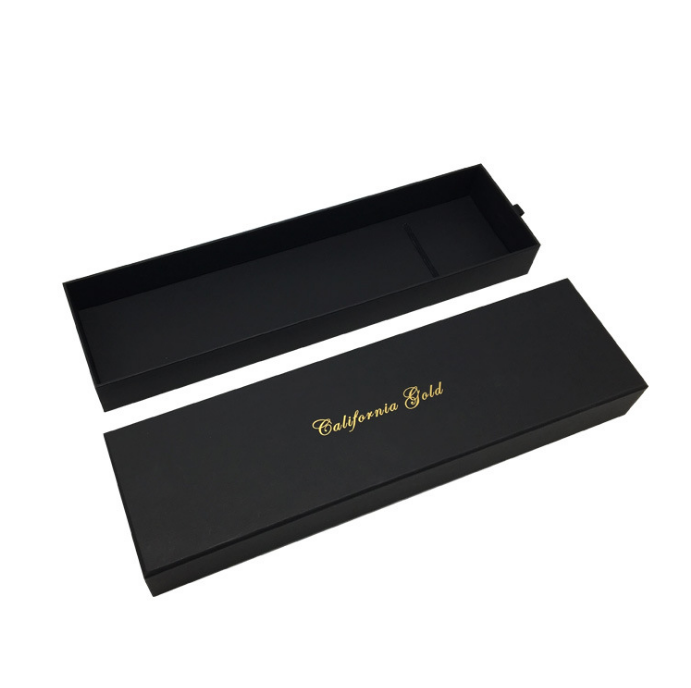Black drawer custom hair extension boxes