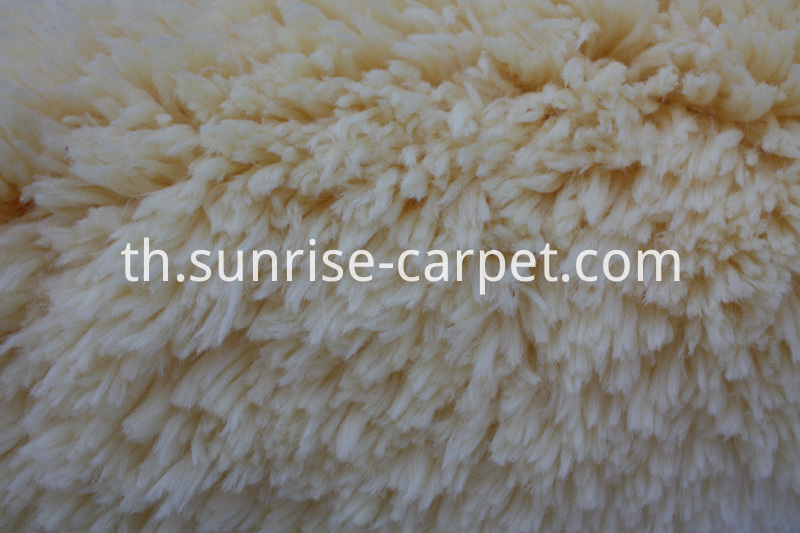 Soft Imitation Fur Shaggy Rug Beige