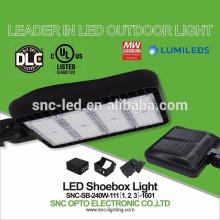Slip Fitter 240w LED Pista de tenis Shoebox luz UL cUL DLC Listado
