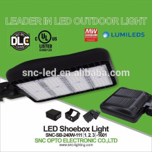 Outdoor Pole Mounted 240W LED Parking Lot Shoebox Light with UL DLC