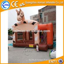 Bouncers infláveis do cavalo dos miúdos indoor baratos com ventilador para a venda