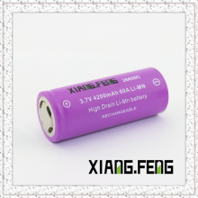 3.7V Xiangfeng 26650 4200mAh 60A Batterie lithium rechargeable Imr Batterie Li-Mn