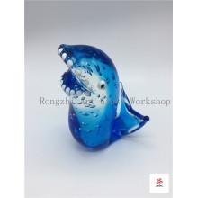 Blue Shark Glass Sculpture
