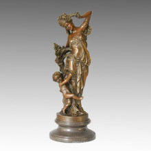 Classical Statue Foison Celebrating Bronze Sculpture TPE-293