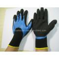 Работа перчатки нитрил синие 3/4 покрытия и черный песок Цин на ладони (N1572)