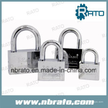 40mm Chrome Plated Square Circle Padlocks