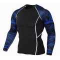 Sublimasi Kualitas Tinggi Anti Pilling Polyester Men Rash Guard Lengan Panjang