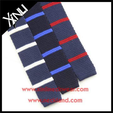 China Product 2015 Fashion Custom Knitted Silk Straight Cut Ends Knit Tie
