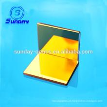 BK7 vidro AL prata ouro revestimento de espelho plano óptico