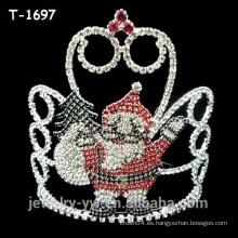 Fantasía coloreado rhinestone duende sorpresa navidad desfile coronas