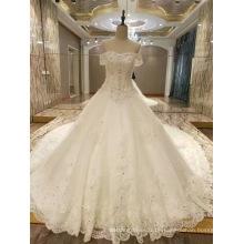 Neue Ankunft 2017 Spitzenprinzessin-Hochzeits-Hochzeits-Kleider mit langem Zug
