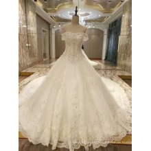 New Arrival 2017 Top Princess Marriage Wedding Dresses with Long Train