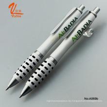 Werbeartikel Weiß Kugelschreiber mit Logo bedruckt