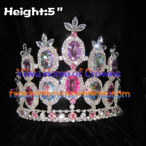 5inch Big Diamond Pageant Queen Crowns
