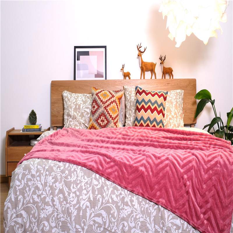 Knitted Coral Blanket