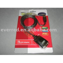 Câble convertisseur USB vers RS232 (DB9M)