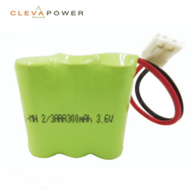 3.6v 300mah nimh battery pack for solar light
