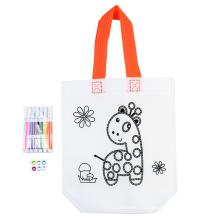 bolsa não tecida de papel com diy para colorir