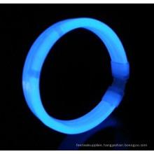 blue wide glow bracelet