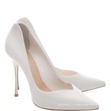новая мода белый женщин замшевые кожаные модные туфли 2016 высокие каблуки
