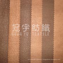 Tecido Têxtil Doméstico de Camurça Faux Gravado com Parte de Trás