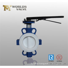 Rptfe Coated Split Body Wafer Butterfly Valve