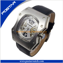 Fashion Genuine Leather Mens Waterproof Automatic Watch