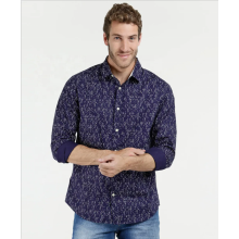 Mens 100% Cotton Casual Long Sleeve Printed Shirts
