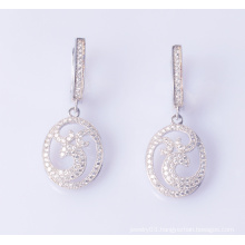 925 Sterling Silver Delicate White CZ Earrings Jewelry