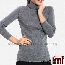 Женская зимняя серая водолазка Icelandic Wool Sweater Джемпер