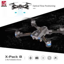 Attop 720 P Weitwinkel Wifi Kamera Faltbare Drohne Höhe Halten Optischer Fluss Positionierung Quadcopter AR spiel modus SJY-X-Pack8