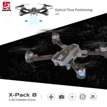 Attop 720P wide angle Wifi Camera Foldable Drone Altitude Hold Optical Flow Positioning Quadcopter AR game mode SJY-X-Pack8