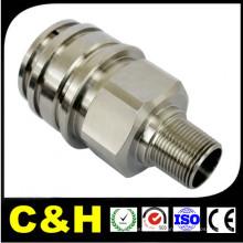 Cor revestido CNC torneamento de peças de aço inoxidável para máquinas